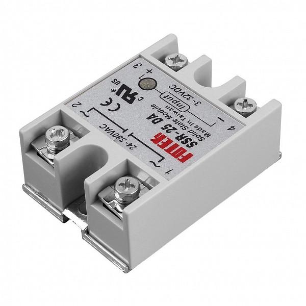 Rele de Estado Solido 25A - Entrada 3 a 32VDC / Saida 380VCA