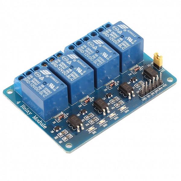 Modulo de Rele Potetor para Arduino 5V – 10A - 4 Reles (HL-54S V1.0)