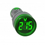 Voltimetro 20-500VAC - AD22-22VS-G - Redondo 22mm - Verde - Digital