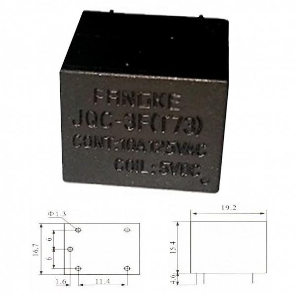 Rele 5V 10A - 1 Contato Reversível