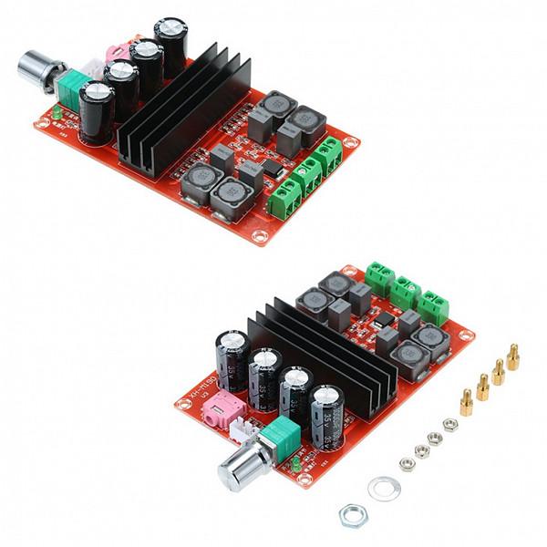 Amplificador de Áudio Classe D com 2 Canais -12~24V XH-M190 TDA3116D2 2x100W