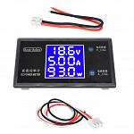 Voltimetro + Amperimetro + Wattimetro Digital (100VCD / 10A / 1000W)